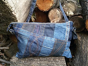джинсовый клатч | Ярмарка Мастеров - ручная работа, handmade