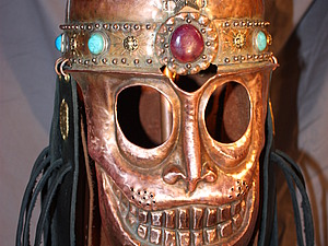 Медный шлем с маской | Ярмарка Мастеров - ручная работа, handmade
