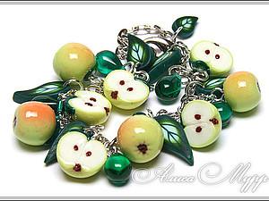 Яблочки из полимерной глины | Ярмарка Мастеров - ручная работа, handmade