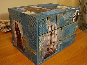 Шпатлевка по дереву при декупаже мини-комода | Ярмарка Мастеров - ручная работа, handmade