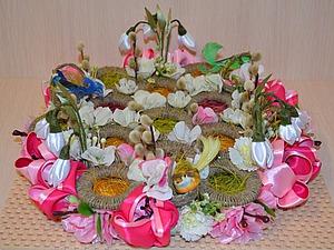 Пасхальная подставка для яиц из разделочной доски и мебельных ручек. Ярмарка Мастеров - ручная работа, handmade.