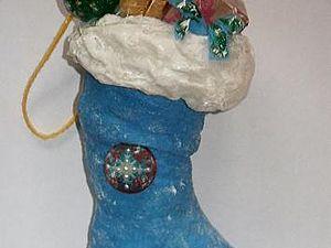 Сапожок Деда Мороза с подарками. Ярмарка Мастеров - ручная работа, handmade.