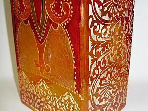 Нарядная ваза-подсвечник - новый мастер-класс по витражной росписи стекла!   Ярмарка Мастеров - ручная работа, handmade