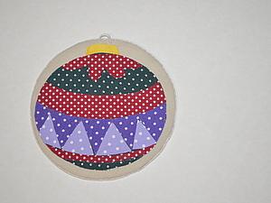 Аппликация Елочный шар для новогодней коробочки. Ярмарка Мастеров - ручная работа, handmade.