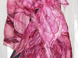 Мокрое валяние. Тема на выбор:Шарфы, сумки, плантины, цветы. | Ярмарка Мастеров - ручная работа, handmade