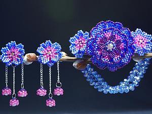 Создаем комплект украшений из бисера «Сиреневая дымка» | Ярмарка Мастеров - ручная работа, handmade