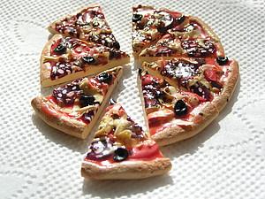 Делаем пиццу из полимерной глины | Ярмарка Мастеров - ручная работа, handmade