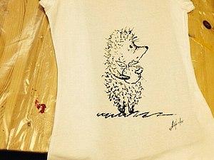 Роспись футболки. | Ярмарка Мастеров - ручная работа, handmade