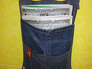 Шьем газетницу из джинсовой ткани. Ярмарка Мастеров - ручная работа, handmade.