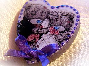 МК Создание свадебных магнитов | Ярмарка Мастеров - ручная работа, handmade