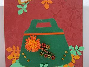 Листопад: мастер-класс по изготовлению поздравительной открытки | Ярмарка Мастеров - ручная работа, handmade