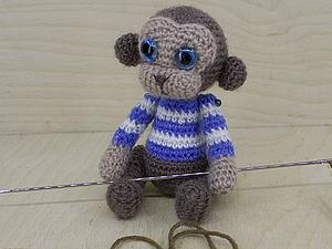 Один из способов нитяного крепления лап у вязаных игрушек. Ярмарка Мастеров - ручная работа, handmade.