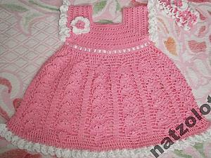 Ажурное вязаное платье для девочки (на заказ). | Ярмарка Мастеров - ручная работа, handmade
