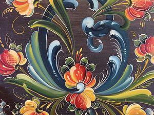Норвежская роспись розами — rosemaling (русемалинг). Ярмарка Мастеров - ручная работа, handmade.