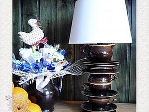 «Лучик из прошлого в будущее»: создаем настольную лампу из чайного сервиза. Ярмарка Мастеров - ручная работа, handmade.