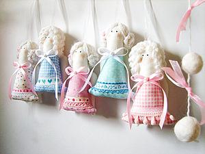 Ангелочки-подвески для праздничного декора, handmade
