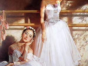 Акварельный балет в китайской живописи | Ярмарка Мастеров - ручная работа, handmade