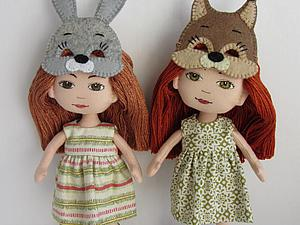 Мастер-класс для девочек: шьем новогоднюю маску для куклы. Ярмарка Мастеров - ручная работа, handmade.