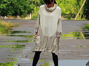 Пончо-платье в стиле БОХО | Ярмарка Мастеров - ручная работа, handmade