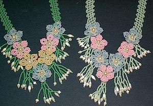 Делаем колье «Весенние цветы» в технике бисероплетение. Ярмарка Мастеров - ручная работа, handmade.