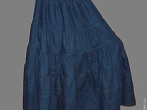 Акция сентября - бесплатная доставка + скидка 10% на джинсовую юбочку! | Ярмарка Мастеров - ручная работа, handmade