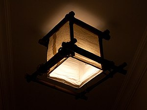 Бамбуковый светильник | Ярмарка Мастеров - ручная работа, handmade