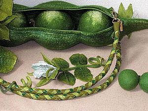 Плетеная ручка из кожи | Ярмарка Мастеров - ручная работа, handmade