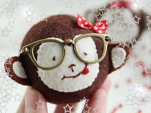 Шьем в меру умную, но ужасно милую обезьянку. Ярмарка Мастеров - ручная работа, handmade.