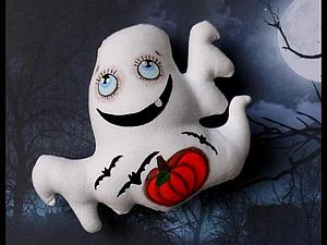 Шьем маленькое симпатичное привидение к Хэллоуину | Ярмарка Мастеров - ручная работа, handmade