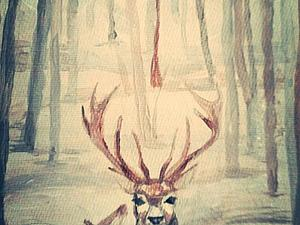 Со мной лесной Олень | Ярмарка Мастеров - ручная работа, handmade
