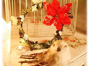 Новогодний венок.. Ярмарка Мастеров - ручная работа, handmade.