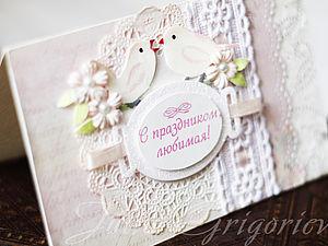 Нежная открытка | Ярмарка Мастеров - ручная работа, handmade