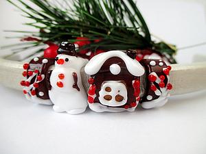 Новогодний аукцион (бусины лэмпворк) для Regaliz | Ярмарка Мастеров - ручная работа, handmade