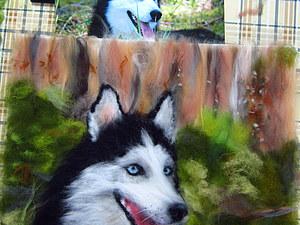 Мастер-класс по рисованию картин из сухой шерсти под стекло, тема - Животные | Ярмарка Мастеров - ручная работа, handmade