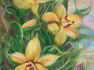 Рисование картин из сухой шерсти под стекло | Ярмарка Мастеров - ручная работа, handmade