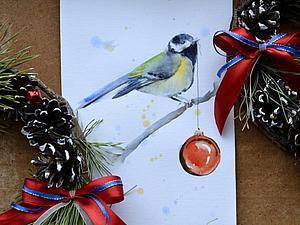 Видео мастер-класс: картина акварелью «Птичка». Ярмарка Мастеров - ручная работа, handmade.