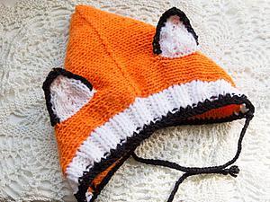 Вяжем милую шапочку «Лисенок» для малыша. Ярмарка Мастеров - ручная работа, handmade.