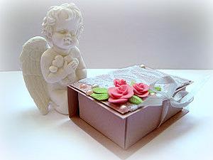 МК Шкатулочка из картона с двумя отделениями. Ярмарка Мастеров - ручная работа, handmade.