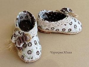 Мастерим туфли (с выкройкой) для Тильды | Ярмарка Мастеров - ручная работа, handmade