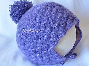 Зимняя шапочка Фиолетовый пушистик | Ярмарка Мастеров - ручная работа, handmade