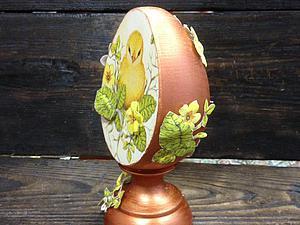 Уникальный мастер-класс - декор пасхального яйца в технике