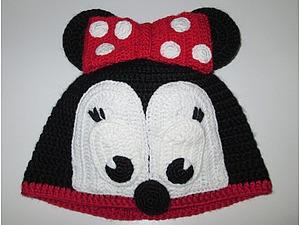 Вязаная шапочка «Минни Маус». Ярмарка Мастеров - ручная работа, handmade.