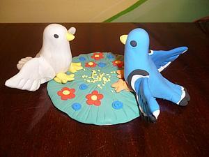 Лепим симпатичного голубка из пластической массы. Ярмарка Мастеров - ручная работа, handmade.