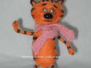 Делаем котика из ниток | Ярмарка Мастеров - ручная работа, handmade