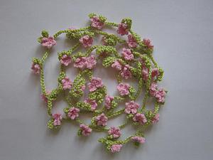 Как связать крючком украшение-пояс «Сакура». Ярмарка Мастеров - ручная работа, handmade.