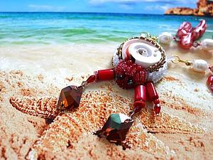 Ожерелье «Гость кораллового рифа». Ярмарка Мастеров - ручная работа, handmade.