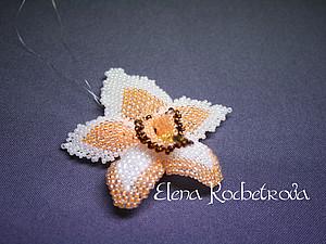 Орхидея из бисера | Ярмарка Мастеров - ручная работа, handmade
