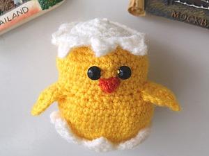 Вяжем сувенир «Магнит Цыплёнок». Ярмарка Мастеров - ручная работа, handmade.