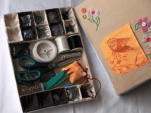 Палитра для бисера из коробки из под шоколадных конфет. | Ярмарка Мастеров - ручная работа, handmade