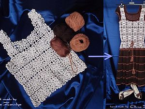 Из винтажного топа - в современное платье. Пошаговый МК. | Ярмарка Мастеров - ручная работа, handmade